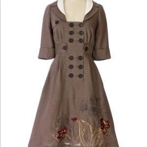 NWOT Anthropologie Floreat Coat Dress size 2 CUTE!